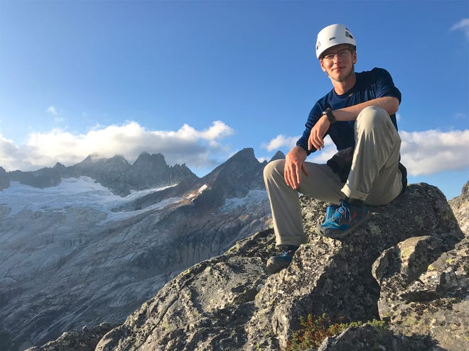 Todd Adelman, 19, is seen here last September during a climb in the Terror Basin of North Cascades National Park. Adelman died in a climbing accident on Sunday, July 19, after a fall from Three Fingered Jack.