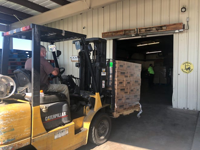 A large food donation of 41,000 pounds was brought to the food banks in San Angelo and Abilene from Utah.