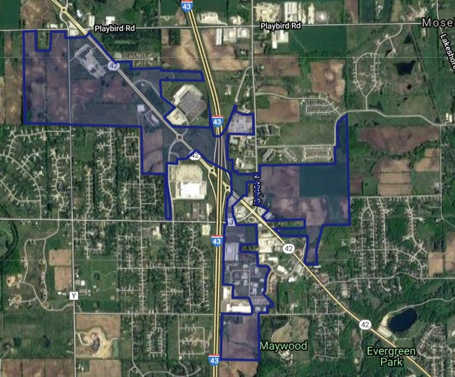 The town of Sheboygan created a 509 acre tax incremental district.