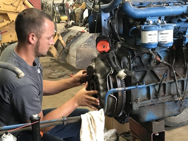 Dan Scheuers, service manager and co-owner of Waupun Equipment, said it's clear that farmers are holding onto their tractors and equipment longer and choosing to repair it, adding that it has been a challenge keeping up with repairs.
