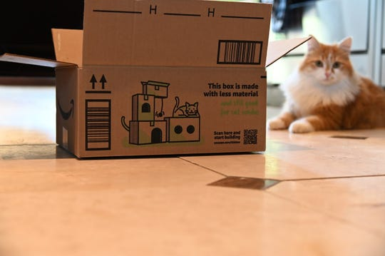 Amazon's new boxes include directions on how to turn them into items like cat condos.