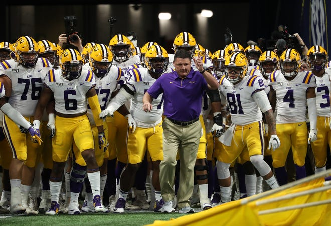 LSU and coach Ed Orgeron are not sure when they can start defense of their national title.