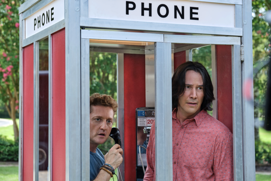 """Alex Winter (left) and Keanu Reeves are traveling through time and space again in """"Bill & Ted Face the Music."""""""