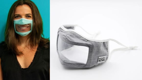 These masks make it easy to see facial expressions and read lips.