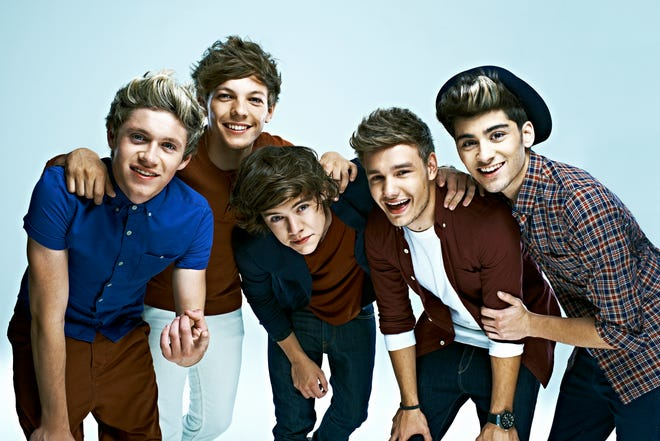"""Members of the musical group One Direction, Niall Horan, left, Louis Tomlinson, Harry Styles, Liam Payne and Zayn Malik. The band will release a new album entitled """"Take Me Home"""" in the fall of 2012."""