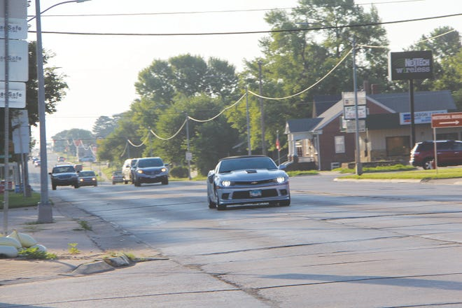 A silver Camaro with Illinois plates enters the First and Main street intersection in Pratt at a high rate of speed on Thursday morning. By 10:30 a.m. three suspects had been arrested at the Budget Inn on First Street, after the car was abandoned on North New Street and a man-hunt involving law enforcement from several jusidictions ensued.