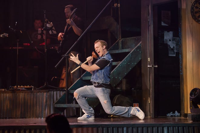 "Kelcey Steele left Cincinnati for New York just a year ago. Unlike most performers, he soon found touring work that kept him constantly busy – until the Coronavirus pandemic hit. Here, he plays the role of Drew Boley in ""Rock of Ages"" at The Carnegie in Covington."