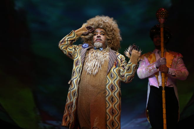"After interning at the Playhouse in the Park, Christopher Richardson found his way into several local productions. Today, he is an active member of the Washington DC theater community. Here, he is seen as the Lion in the ""Ford's Theatre production of ""The Wiz."""