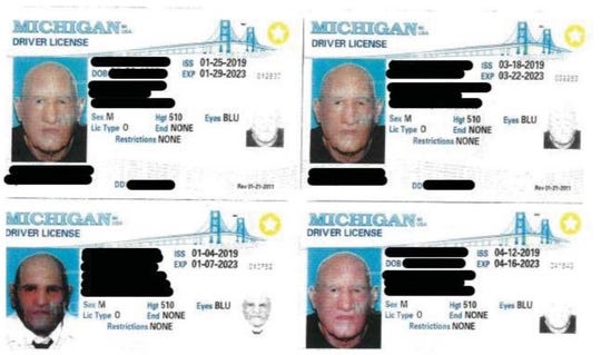 Investigators found these counterfeit licenses while arresting John Christopher Colletti.