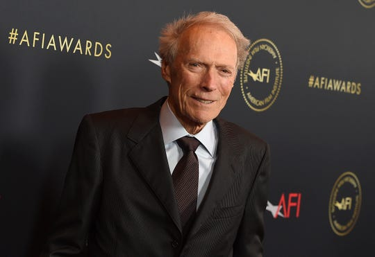 FILE - Clint Eastwood arrives at the AFI Awards on Jan. 3, 2020, in Los Angeles. Eastwood sued several companies that sell CBD supplements Wednesday, alleging that they are falsely using his name and image to push their products.