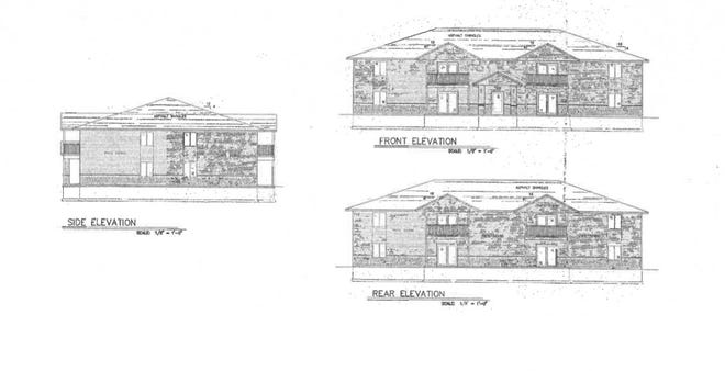 Sketches of the new two-story apartment complex coming to Sister Bay by 2022.