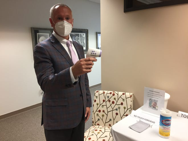 CEO of NexCare Health Systems and The WellBridge Group Mike Perry discusses investments his company has made in disinfecting systems to fight the spread of COVID-19 in 26 Michigan nursing and rehabilitation homes, Thursday, July 23, 2020.