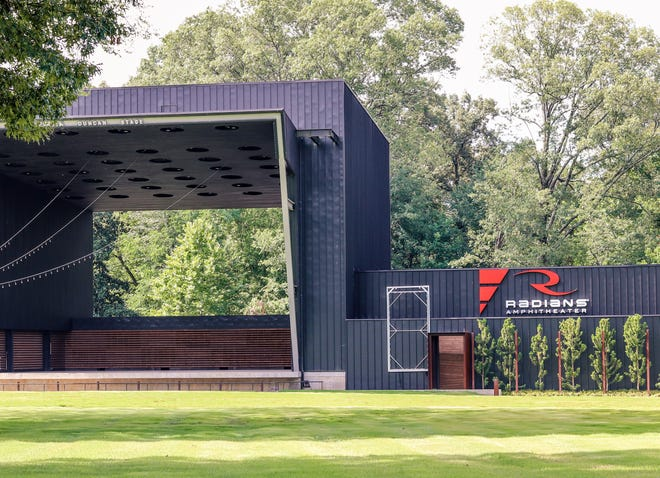 Signage fans, here's your first look at the newly branded Radians Amphitheater at the Memphis Botanic Garden.