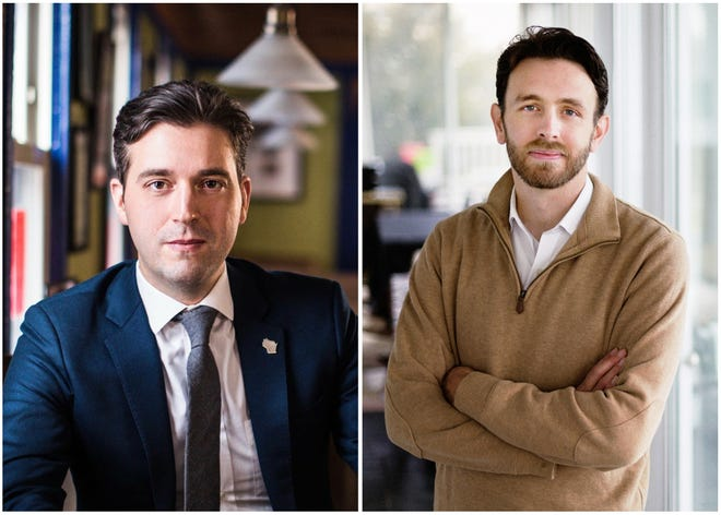 Democratic candidates Josh Pade, left, and Roger Polack, right, are running in Wisconsin's 1st Congressional District primary on Aug.  11.