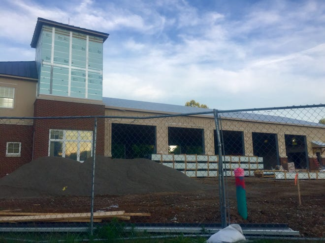 Garage doors are expected to be in place soon at the new Granville Township Fire Station, currently nearly completion on South Main Street. Once the bay doors are in place, chain-link construction fencing will be coming down.