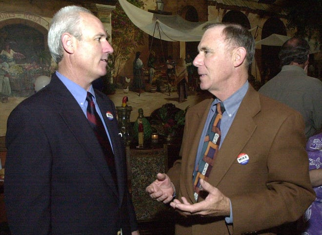 Mike McCulloch, left, served one term on the Palm Springs City Council from 2003 to 2007.