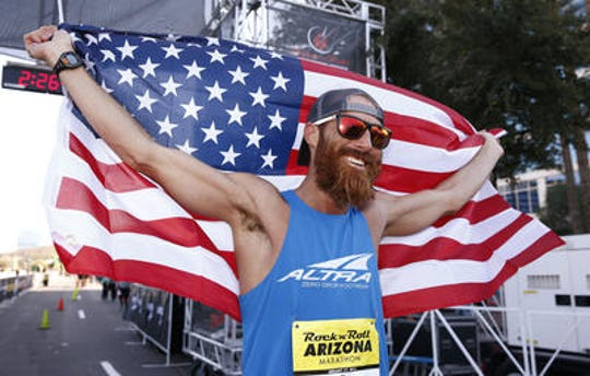 Tommy Puzey of Flagstaff won the 2016 Rock 'n' Roll Arizona Marathon then repeated as champion in 2017.