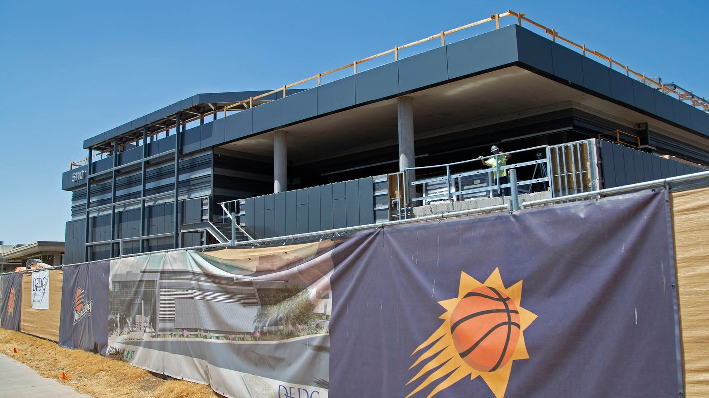 Phoenix Suns hopeful $45-million practice facility is completed in October