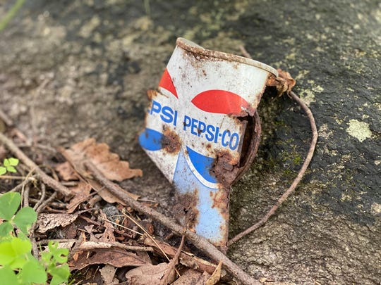 "Daniel Bradshaw, 26, said he found a 1984 Pepsi can along the Appalachian Trail. ""There's a big thing on the AT, it's called 'leave no trace' and basically it's the perception that whatever you bring in, please take it out,"" he said."