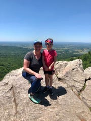 Charissa Hipp, 43, and her daughter, Julia Hipp, 4, at Annapolis Rock on the Appalachian Trail in Maryland.