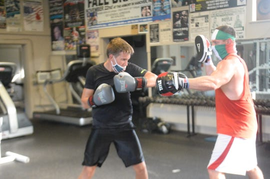 Brendan McDanel (left) training with John Buffone (right) at Lincolnway Sportcenter