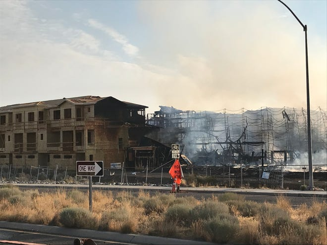 An apartment complex that burned in South Reno Thursday morning.
