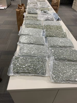 Tallahassee police looking for a wanted man, Ladarius Dickey, found more than 30 pounds of marijuana in his car Wednesday, July 22, 2020.
