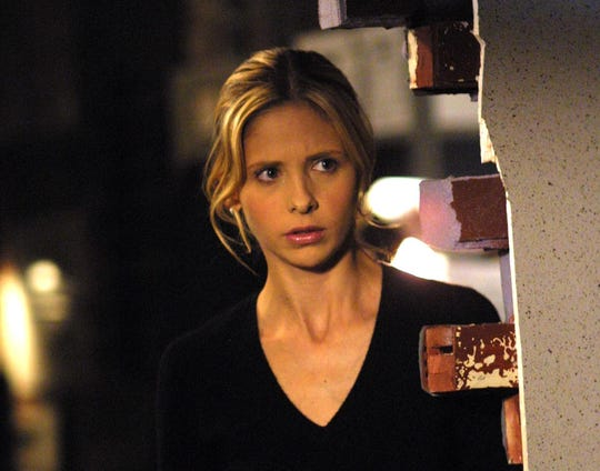 "Sarah Michelle Gellar as the iconic teen superhero in ""Buffy the Vampire Slayer."""
