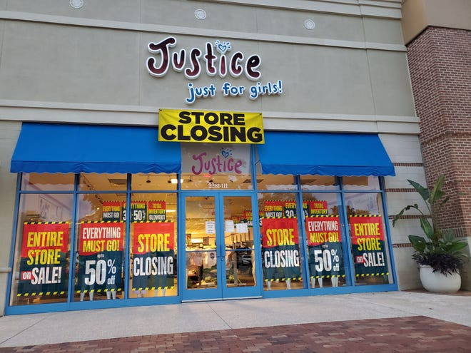 Justice is closing its stores as part of parent company Ascena Retail Group's bankruptcy.