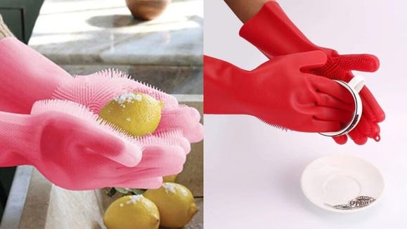 Gloves and sponges in one? Yes, please.