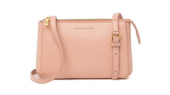 You can nab this bag in black or light pink.