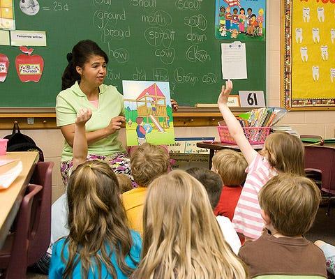 A kindergarten class at First Wesleyan Christian School