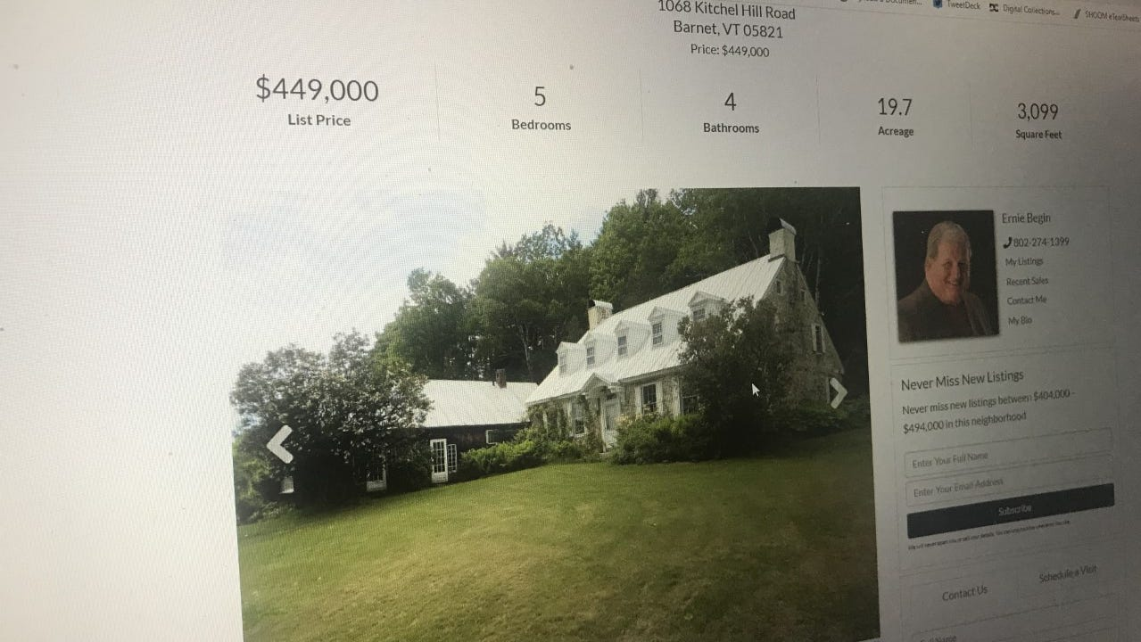 Cheap Old Houses Lists Historic Scottish Farmhouse In Barnet Vermont