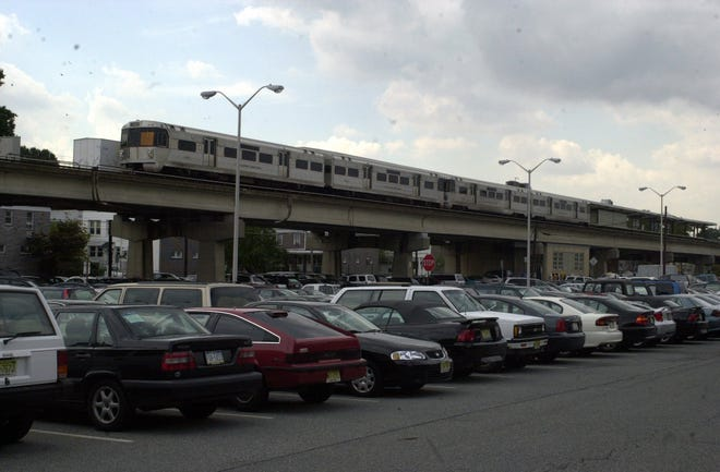 The PATCO Hi-Speedline station in Collingswood, where the commuter line is elevated.