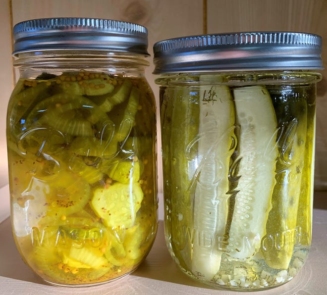 Homemade pickles in jars