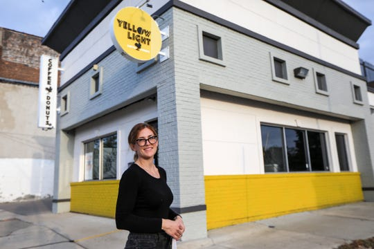 Christine Driscoll is co-owner of Yellow Light Coffee and Donuts, the newest coffee shop to open in Detroit. The drive-thru, located in the Jefferson-Chalmers neighborhood, is open Wednesday to Sunday from 7 a.m. to 1 p.m.