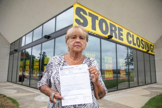 Nancy Blondale-Wagner of Novi visited the former Art Van Furniture store in Bloomfield Township last Wednesday to see whether it would honor her $688.99 purchase of a recliner in February that was never delivered. She was told no, but the store changed its policy later that day to honor such requests.