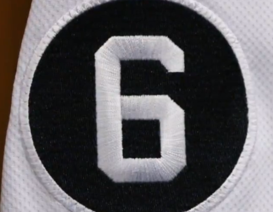 The Tigers will wear a No. 6 patch in 2020.