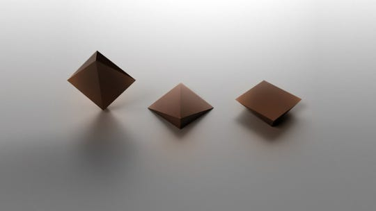 Remy Labesque's chocolate chip redesign for artisanal Dandelion Chocolate is a square, faceted pyramid, kind of like a flattened diamond. Two edges are thick, and two exceedingly thin, for even more textural pleasure.