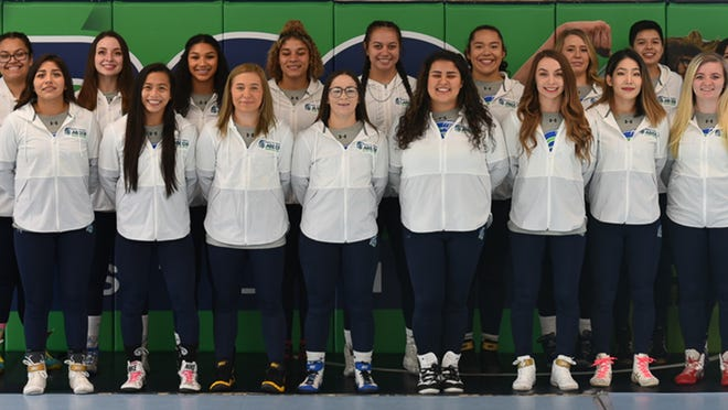 The University of Providence women's wrestling team of 2019-20. The Lady Argos finished third at last year's Cascade Collegiate Conference Tournament and was ranked ninth in the nation in the final poll.