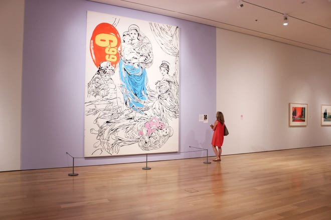 """The exhibition """"Andy Warhol: Revelation"""" at the Speed Art Museum features the 1985 work """"Raphael Madonna-$6.99,"""" among many others."""