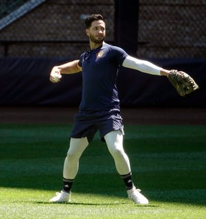 Brewers DH Ryan Braun is in the lineup against the Cubs on Friday night, batting fifth.