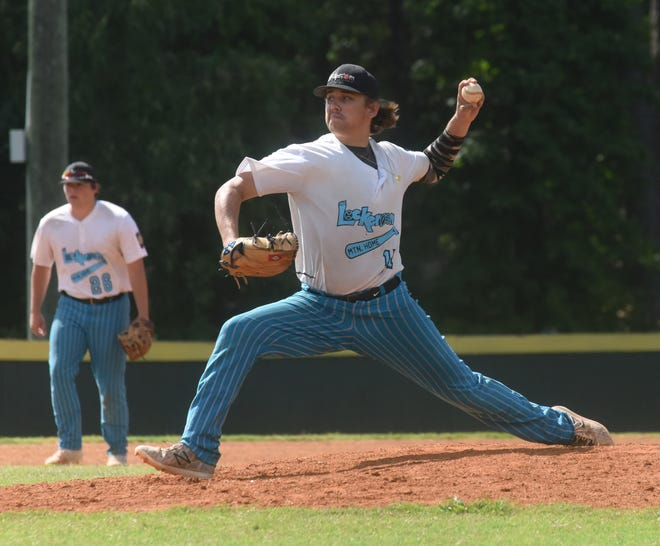 Lockeroom pitcher Jim Strider delivers to the plate against Bryant on Thursday.