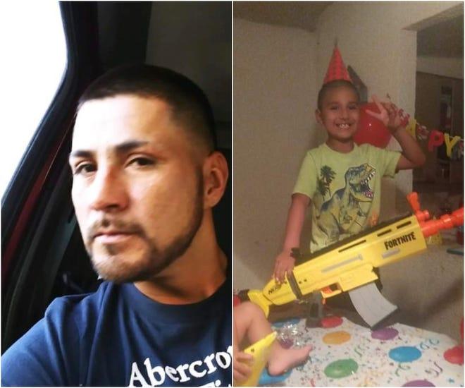 Jesus Abel Martinez, 33, and Isaiah Martinez, 8