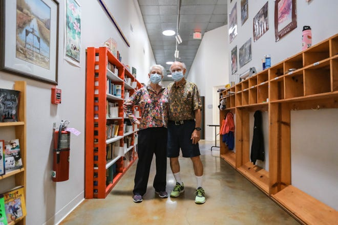 Vincent Gutschick and Lou Ellen Kay are pictured at the Las Cruces Academy in Las Cruces on Friday, July 24, 2020.