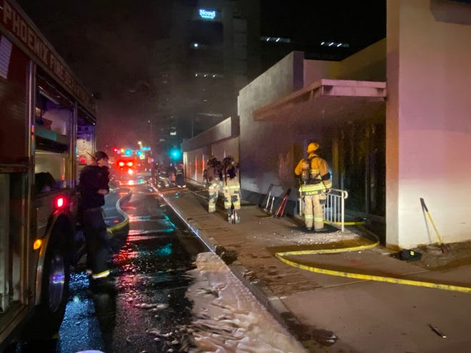 A fire started early Friday morning at the Arizona Democratic Party building in downtown Phoenix. Phoenix firefighters found heavy smoke and fire coming from the structure when they arrived and were able to put out the fire. No one was in the building at the time of the fire and the cause is under investigation.