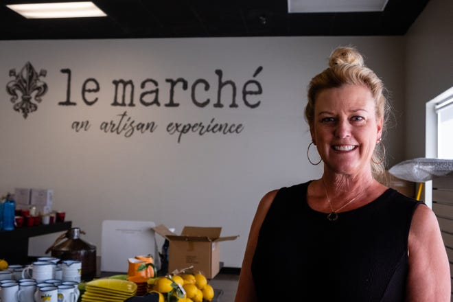 Lori Vinckier is opening Le Marche in St. Clair's Riverview Plaza. The 5,000 square foot market will give artists a space to sell their work and customers one spot to shop for a variety of arts and crafts.
