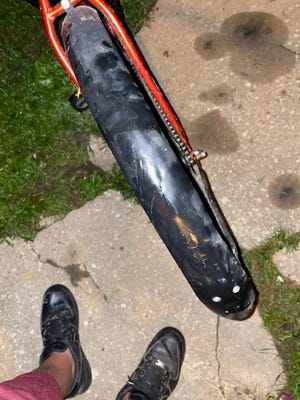 Kyle, 12, said his bike was hit Tuesday by a woman driving an SUV in north Springfield.