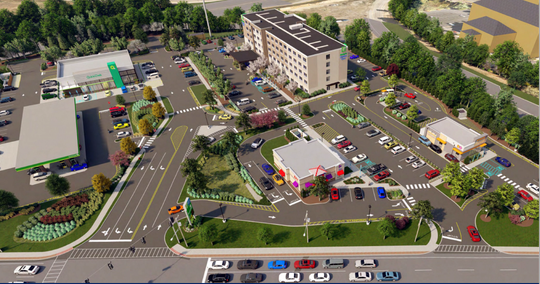 Rendering of the proposed Gateway Commons of Nanuet