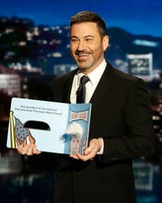 Jimmy Kimmel is hosting the Emmys for a third time; he's also a nominee for best variety talk series.